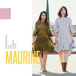 Lularoe Maureen Olive green dress
